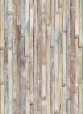 Flowers and Textures (Imagine 2) poszter - Vintage Wood